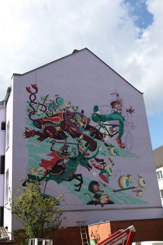 """Remixing Gerresheim"", 40grad urbanart Festival 2013, Suitbertusstraße 151"