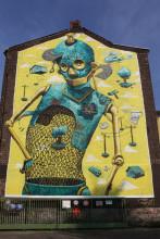 Pixelpancho, 40grad urbanart festival 2013, Suitbertusstraße 151