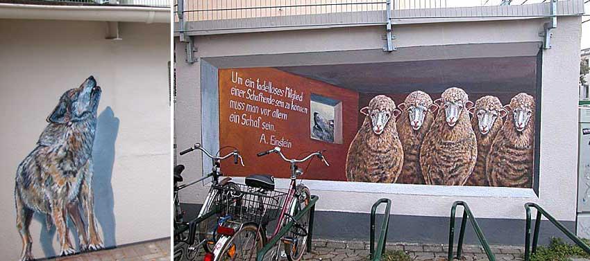 Eingesperrt-Ausgesperrt, S-Bahnhof Frierichstadt, Oberbilker Allee 42, Klaus Klinger, 2009